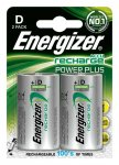 Akumulator ENERGIZER Power Plus, D, HR20, 1,2V, 2500mAh, 2szt., EN-138757